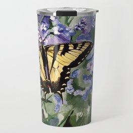 Yellow Swallowtail Butterfy Travel Mug