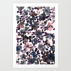 Sophia Floral Dusty Pink Art Print