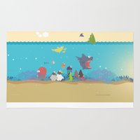 What's going on at the sea? Kids collection Rug