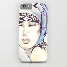 Woman portrait with blue turban Slim Case iPhone 6s