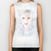 wave Biker Tanks featuring Wave by Joanna Beck