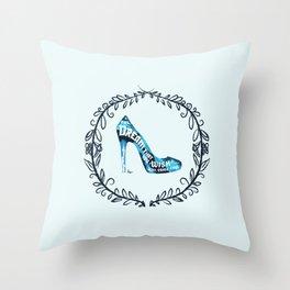 Cinderella' slipper Throw Pillow