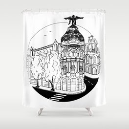 Memories of Madrid Shower Curtain