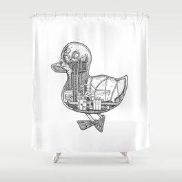 Duck Works Shower Curtain