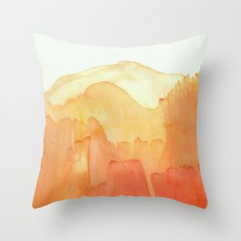 Orange Distance Throw Pillow