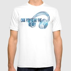 Can you hear the  beat? White MEDIUM Mens Fitted Tee