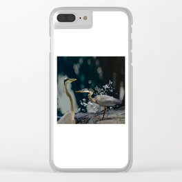 Great blue herons Clear iPhone Case