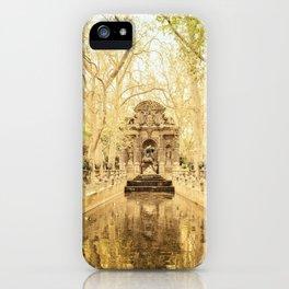 Paris - Springtime - Beautiful Fountain iPhone Case