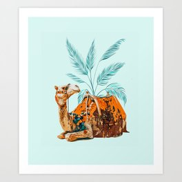 Camel Ride Art Print