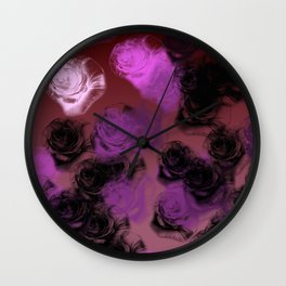 An Illustration of Rose Buds Wall Clock