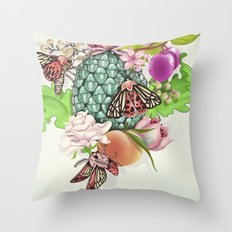 Glam Tropical - silver version Throw Pillow