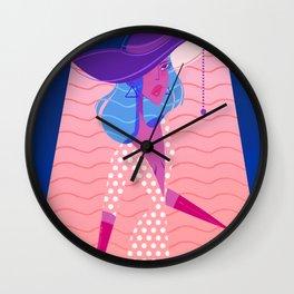 Lamp girl Wall Clock