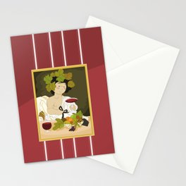 Bacco by Caravaggio Stationery Cards