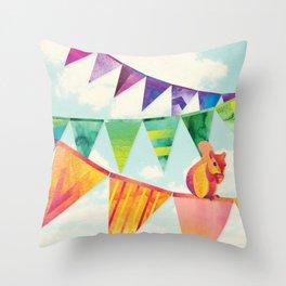 Shanti Sparrow: Hamish the Squirrel Throw Pillow
