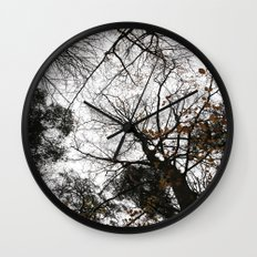 Winter trees silhouetes Wall Clock