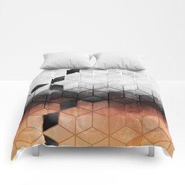 Ombre Concrete Cubes Comforters