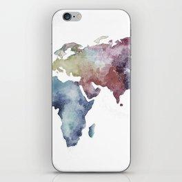 Lápiz Nómada World map iPhone Skin