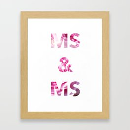 Ms & Ms Wedding Card Framed Art Print