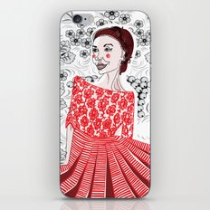 Red Dress iPhone & iPod Skin