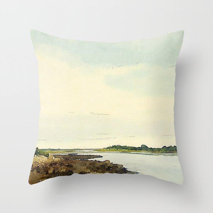 Cape Porpoise, Maine Throw Pillow