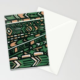 Tribal lino print  Stationery Cards