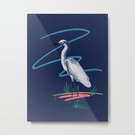 Egret on the Bayou Metal Print
