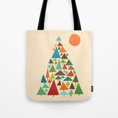 The house at the pine forest Tote Bag