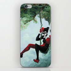 The Vine Swing Harley Quinn and Poison Ivy iPhone Skin