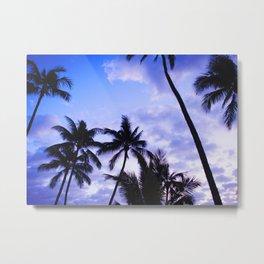 Twilight Palms Metal Print