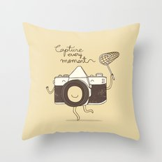 capture every moment Throw Pillow
