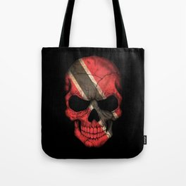 Dark Skull with Flag of Trinidad and Tobago Tote Bag