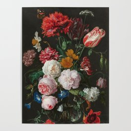 Still Life with Flowers by Jan Davidsz. de Heem Poster