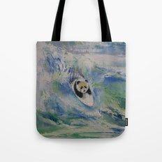 Panda Surfer Tote Bag