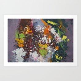 Grunge Splatter Abstract Acrylic Art Art Print