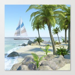 Tropical Island Paradise Canvas Print