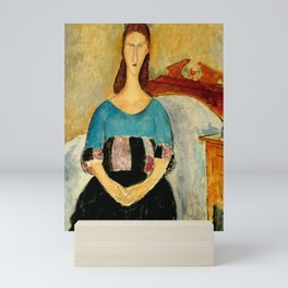 "Amedeo Modigliani ""Portrait of Jeanne Hebuterne, Seated"" 1918 Mini Art Print"