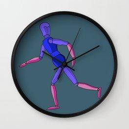 Wooden Running Man Wall Clock