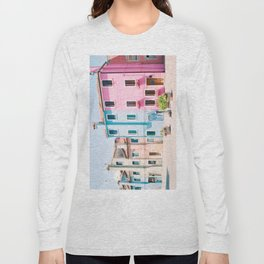 Colorful houses in Burano Long Sleeve T-shirt