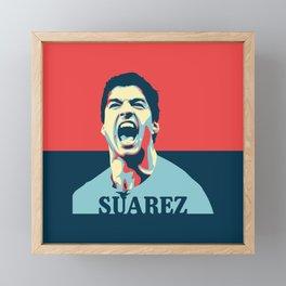 Luis Suarez, number one Uruguayan player. Framed Mini Art Print