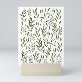 Eucalyptus - green leaves Mini Art Print