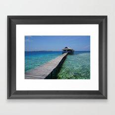 Secret house Framed Art Print