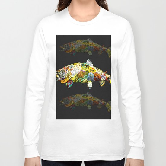 FISH AND BOURBON Long Sleeve T-shirt