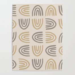 Toasty Warm Rainbow Abstract, Geometric Art Poster