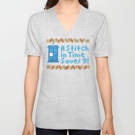 A Stitch in Time Unisex V-Neck