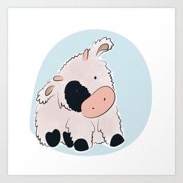 vache Art Print
