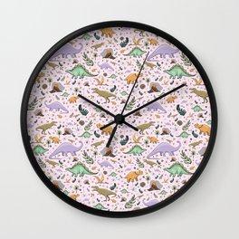 Pretty Dinosaurs Wall Clock
