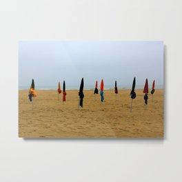 Deauville Beach is Quiet Metal Print