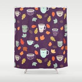 CUTE COFFEE (PURPLE) Shower Curtain