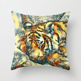 AnimalArt_Tiger_20170606_by_JAMColorsSpecial Throw Pillow