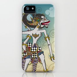 Modification of the puppet characters Hanuman white monkey in the story of the Ramayana iPhone Case